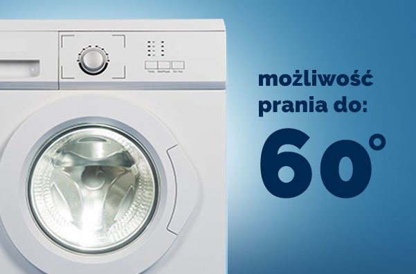 Pokrowiec z możliwością prania do 60 st. C.