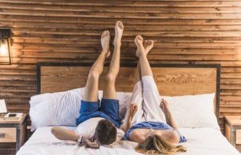 Idealne łóżko dla nowożeńców