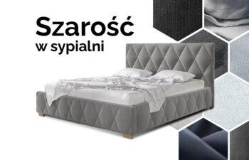 Zestaw łóżko Trivio z pojemnikiem na pościel i materacem Agostino